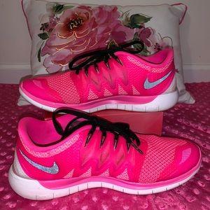Women's Nike Free 5.0 Pink Sneakers Size 10M